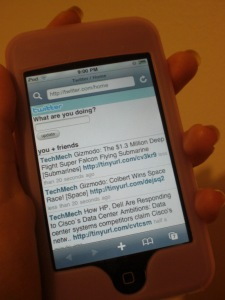 Twitter on iPod Touch