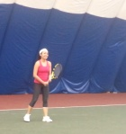Anna playing tennis, March 2014
