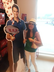 Anna with Roger Federer